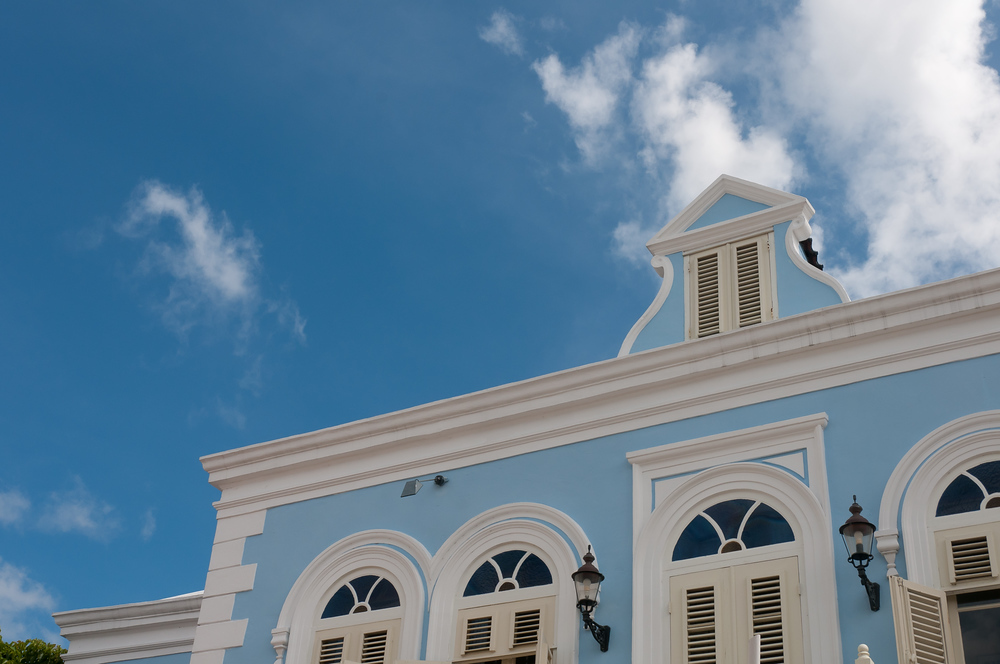 Facade of the hotel Kura Hulanda in Willemstad, Curacao