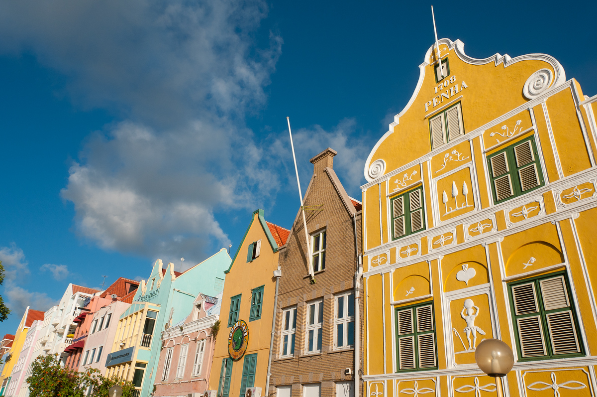 The old town of Willemstad, Curaçao