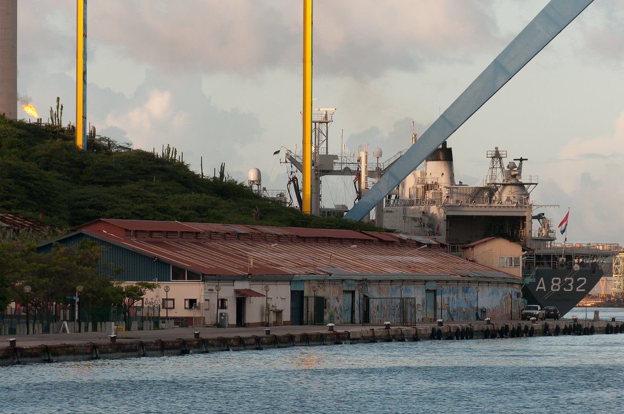 Busy port at Willemstad, Curacao