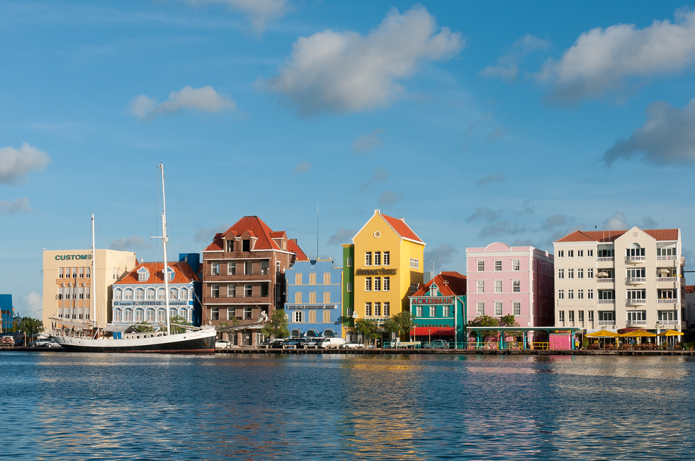 Willemstad Harbor in Curacao