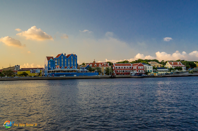 Late afternoon shot of Willemstad from across the water