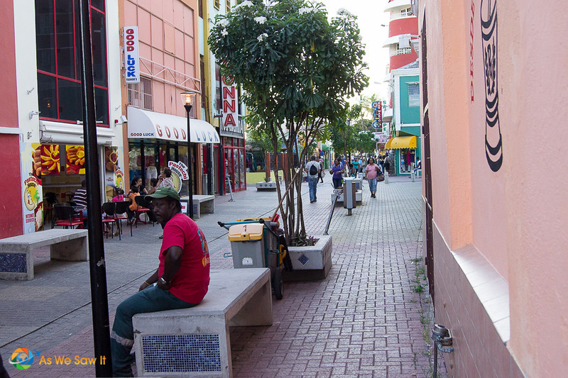Pedestrian street in willemstad