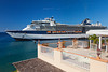 The Celebrity cruise ship Millennium in the port of Roseau, Dominica, West Indies.