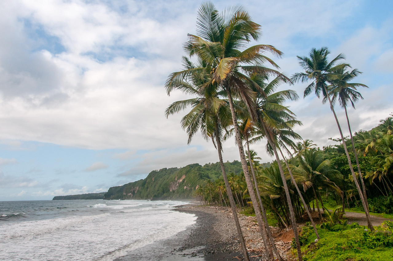 View of the beach on the island of Dominica