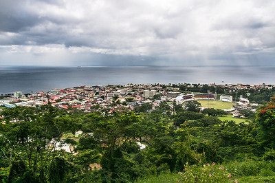 Overlooking view of skyline in Dominica