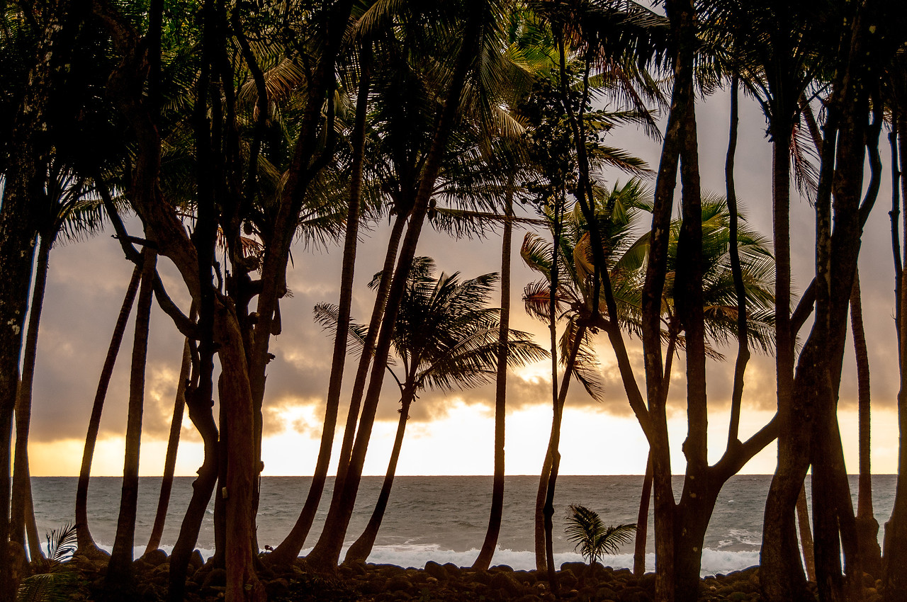 Sunset on the beach of Dominica
