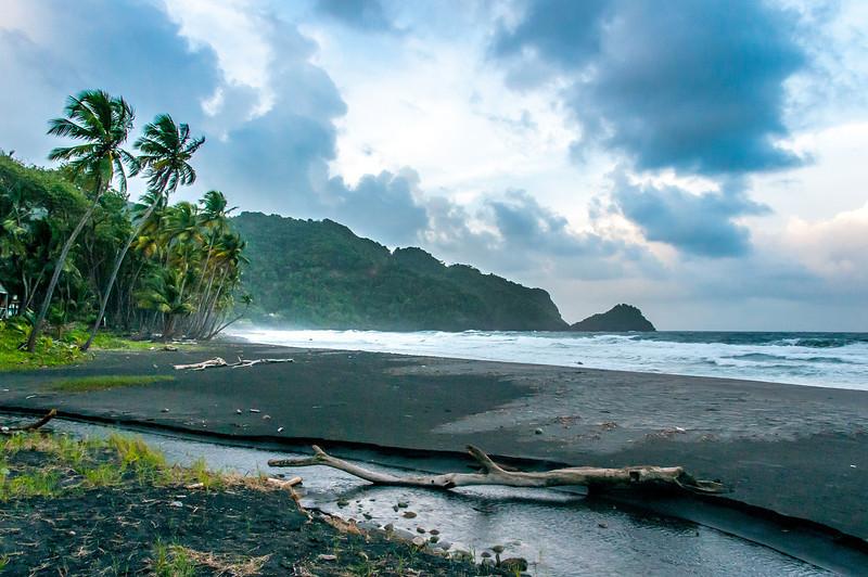 Empty beach in Dominica