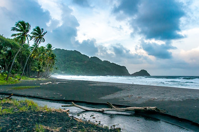 Empty beach in Dominica