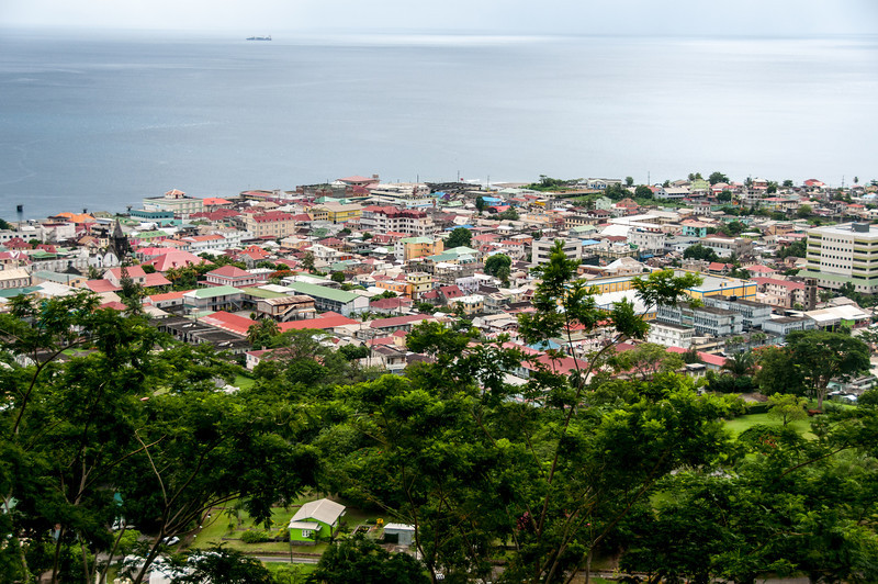Overlooking view of the skyline in Dominica