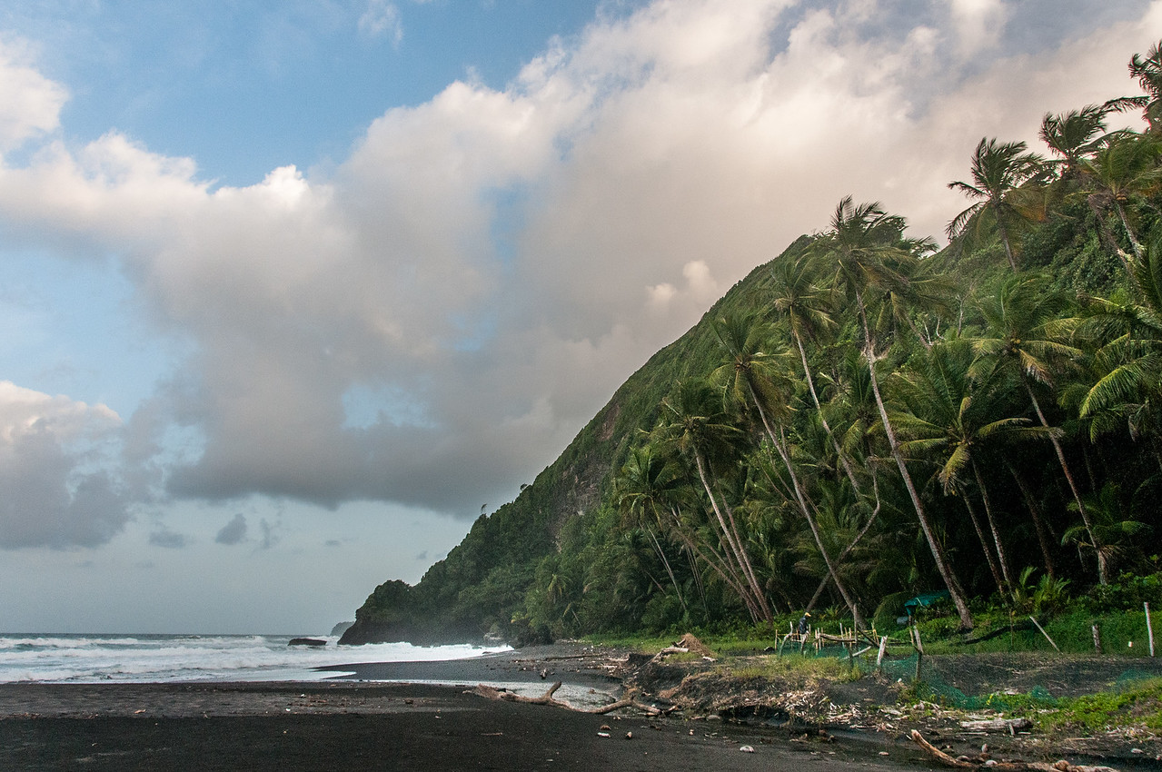 View of the beach in the island of Dominica
