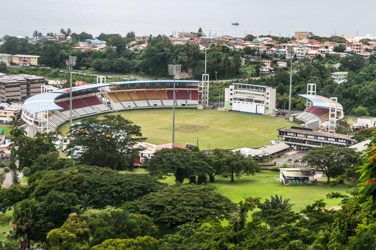 The Windsor Park Stadium in Dominica