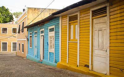 Colorful houses dot the historic streets of Santo Domingo's Zona Colonial
