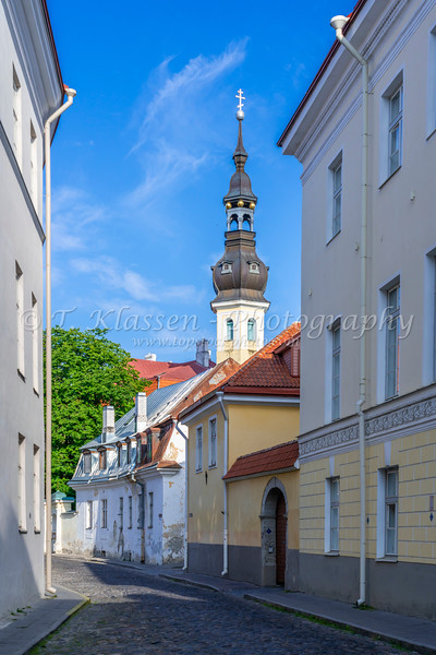 Buildings  and architecture in Old Town Tallinn, Estonia.