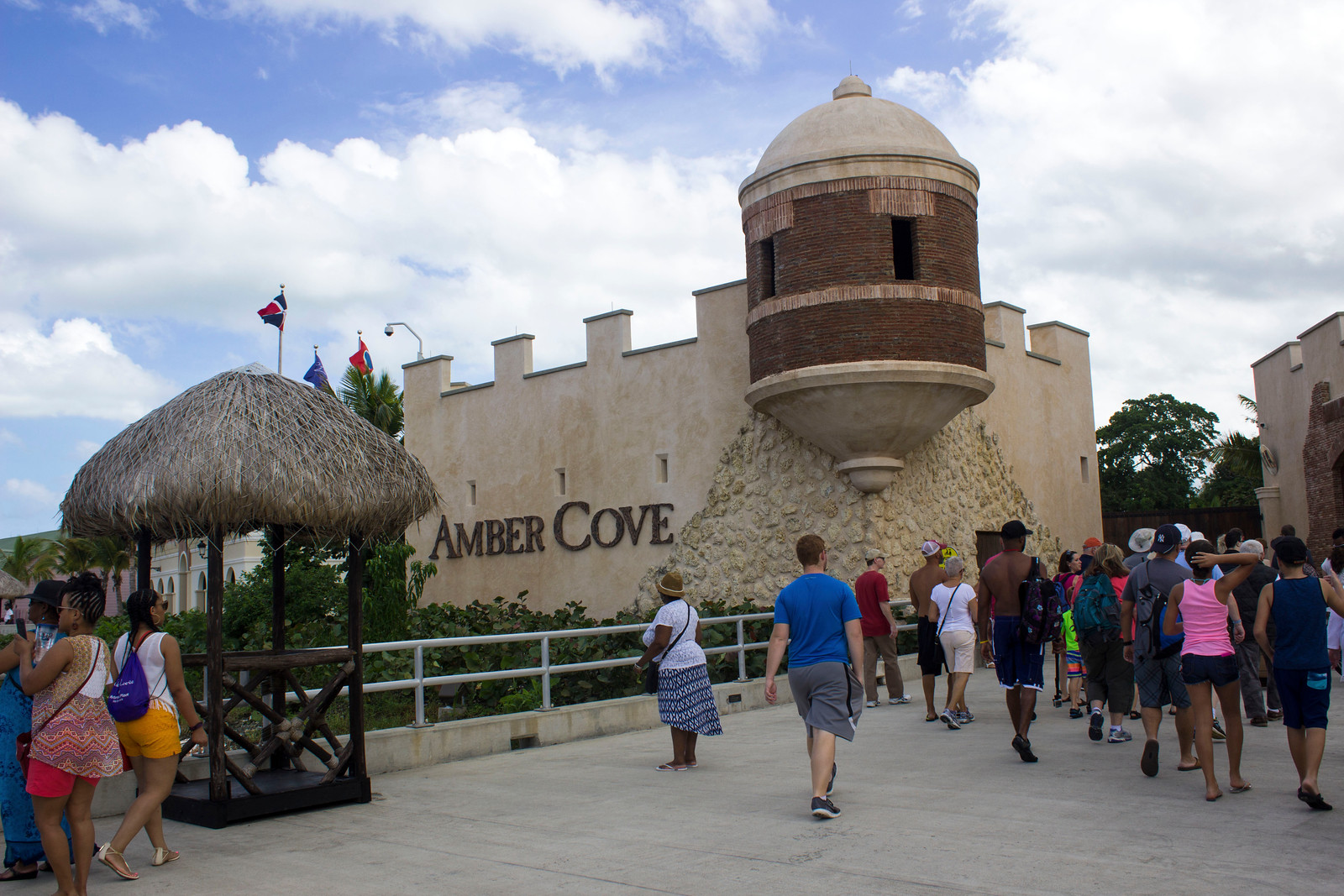What to Do in Amber Cove Dominican Republic - A Cruise Port Guide - Entrance to Amber Cove