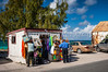 A small souvenir shop on the beach in Cockburn Town, Grand Turk Island, Turks and Caicos Islands.