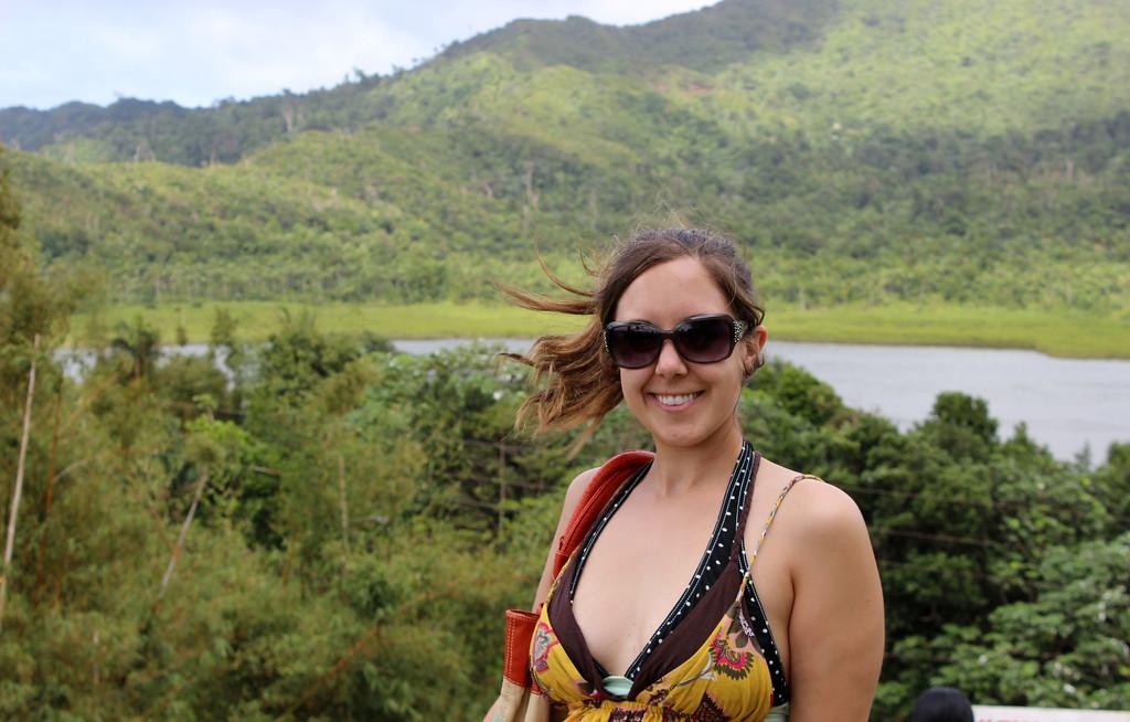 Lauren at Grand Etang Lake