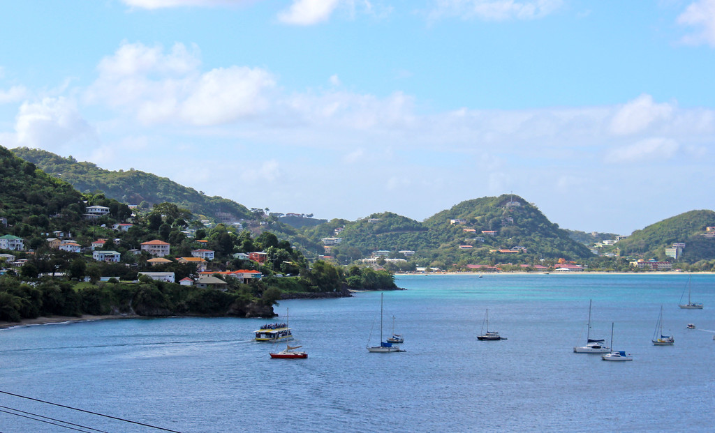Turquoise blue waters of Grenada, West Indies