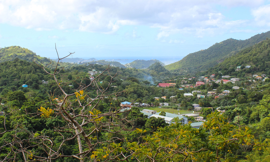 Views from the Spice Shop in Grenada