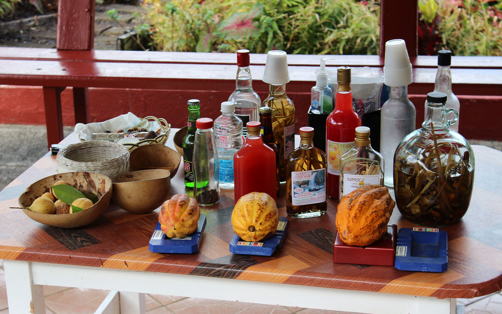 Mark's Sports Bar for a rum tasting in Grenada