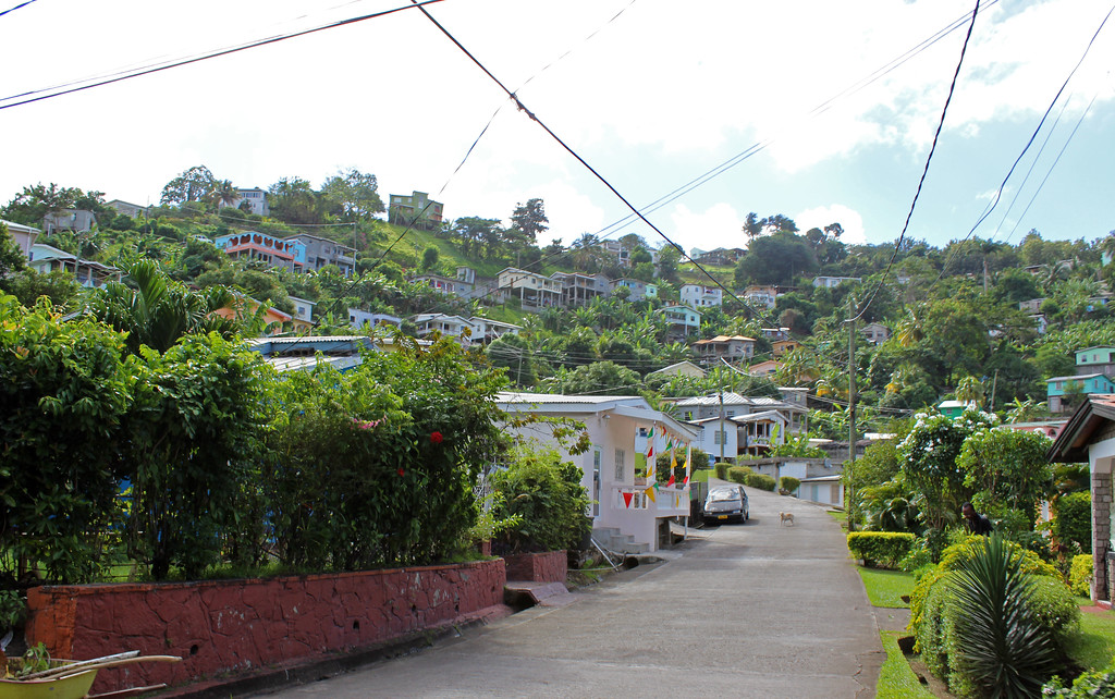 Driving through the streets of Grenada