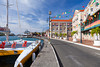 A view of the harbourfront in St. George's, Grenada, West Indies.