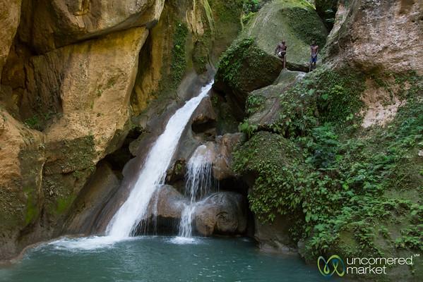 Bassin-Bleu, Blue Pools & Waterfall outside Jacmel, Haiti