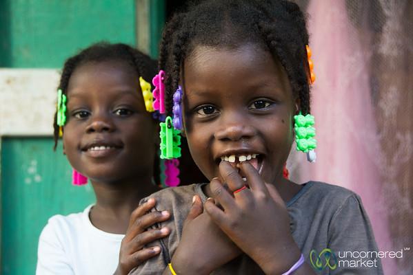 Shy Haitian Girls - Milot, Haiti
