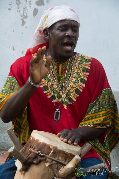 Haitian Drummer at Lakou Lakay - Milot, Haiti