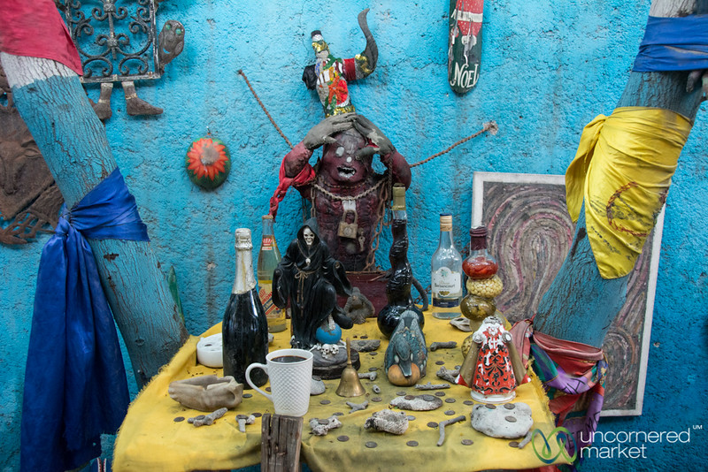 An Area for Offerings at a Vodou Temple - Port-au-Prince, Haiti