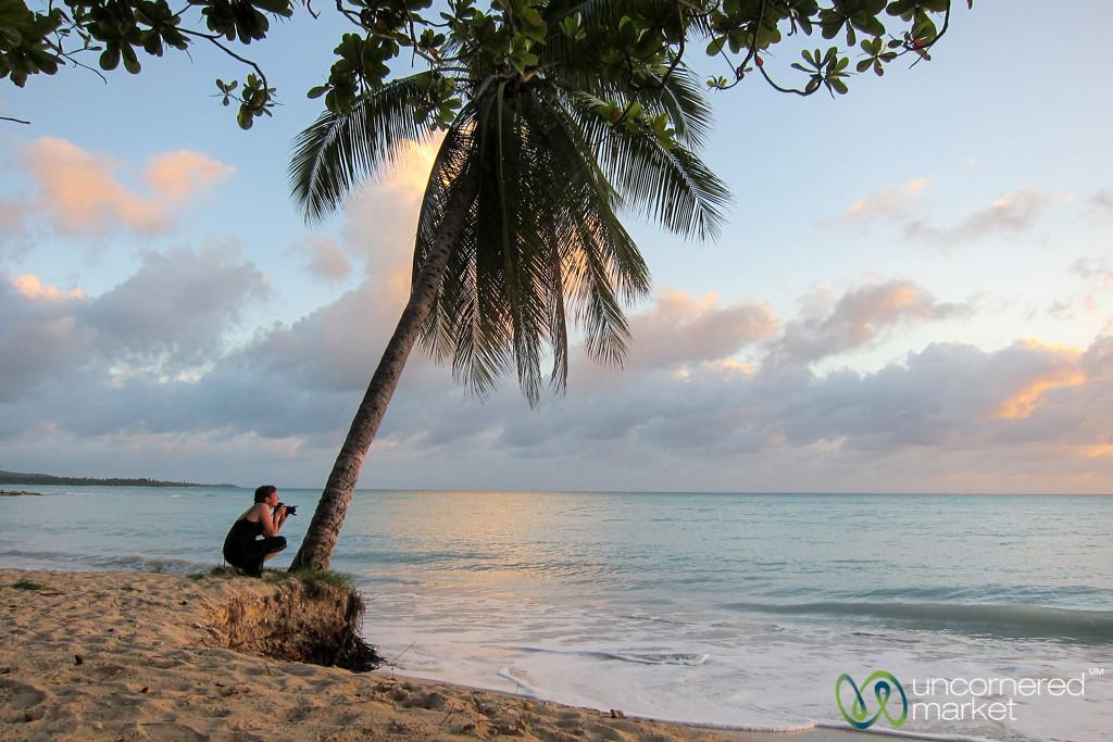 Audrey on Beach at Sunset - Port Salut, Haiti