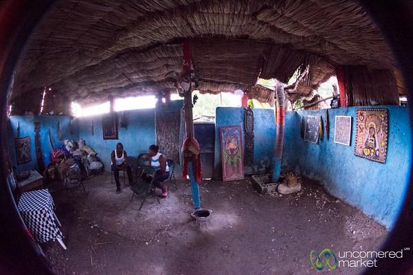 Inside a Vodou Temple (Ounfo) - Port-au-Prince, Haiti