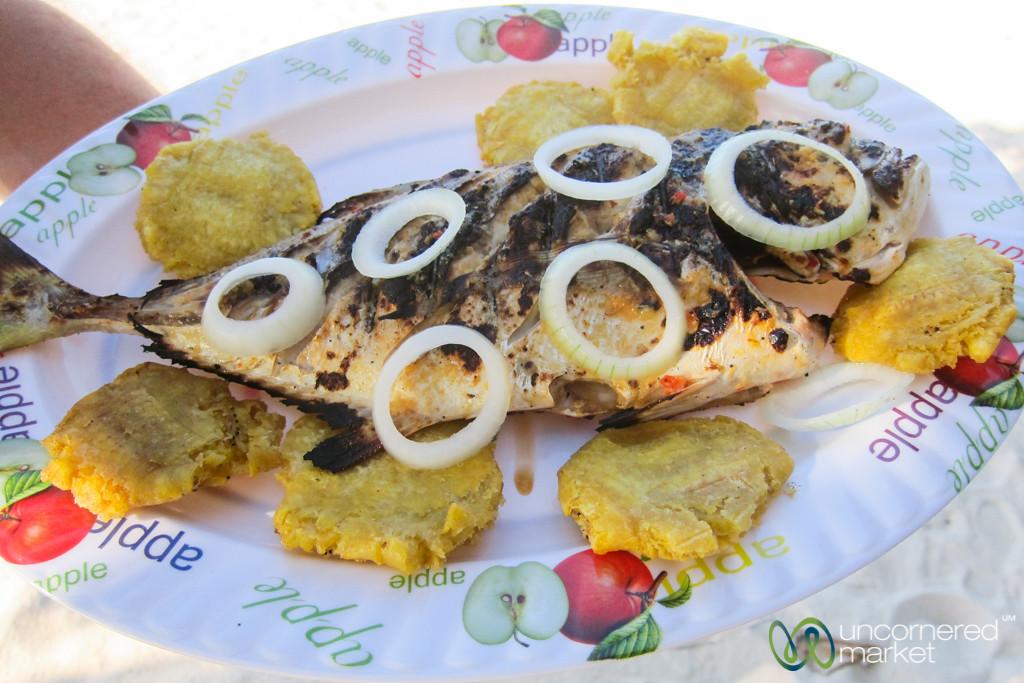 Grilled Fish at Pointe Sable near Port Salut, Haiti