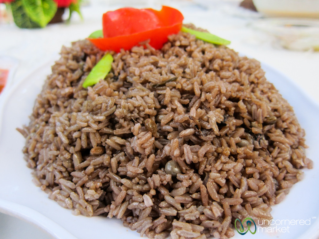 Diri djon djon (Rice with Black Mushrooms) - Cap-Haïtien, Haiti