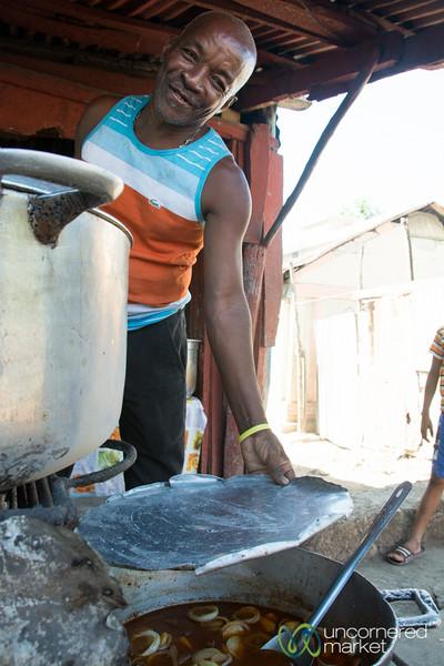 Haitian Street Food in Jacmel, Haiti