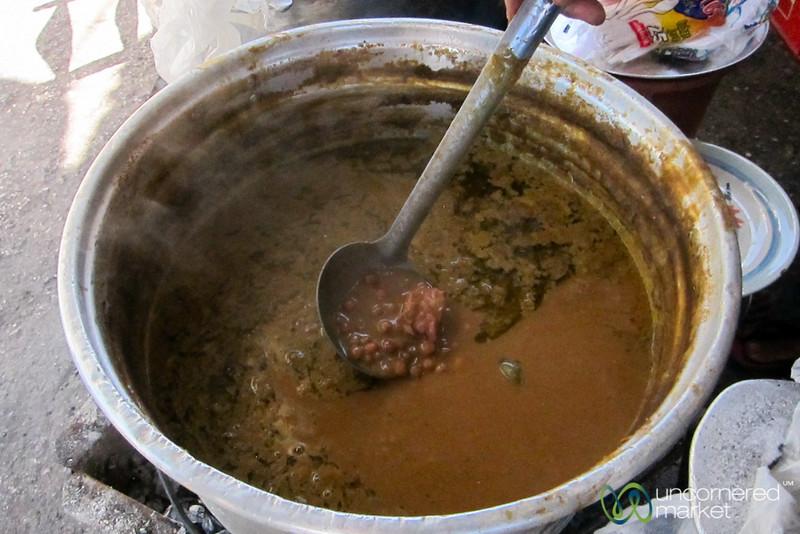 Haitian Bean Mixture Served on Cornmeal - Port-au-Prince, Haiti