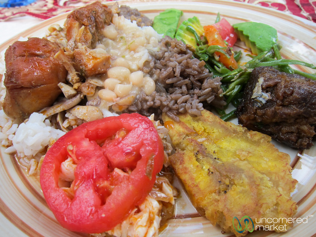 Plate Filled with Haitian Food - Milot, Haiti