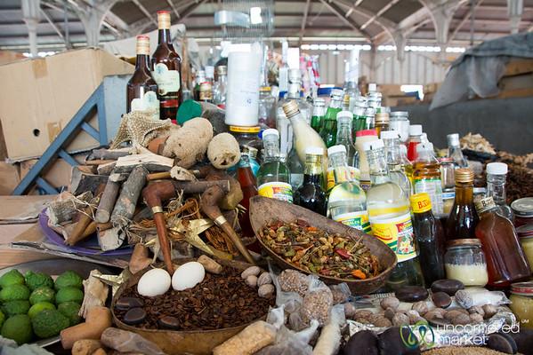 Marché en Fer spices, herbs, and liquors - Port-au-Prince, Haiti