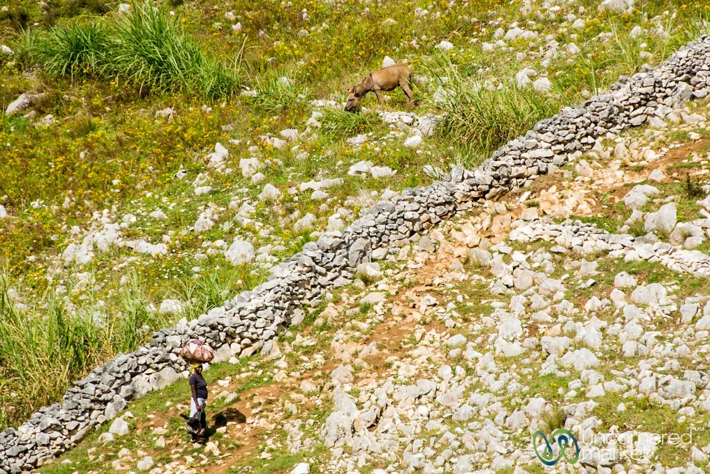 Irrigation Walls and Rocks in Rural Haiti