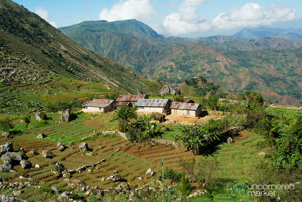 Haitian Houses on the Hillside - Seguin, Haiti