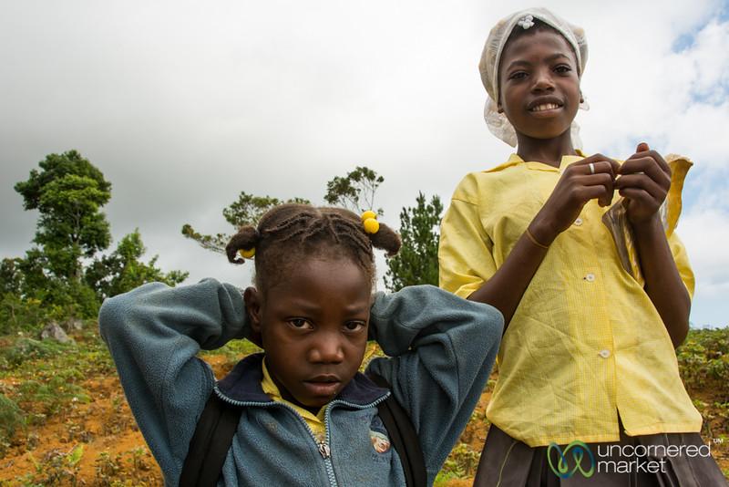 School Girls on the Way Home - Rural Haiti