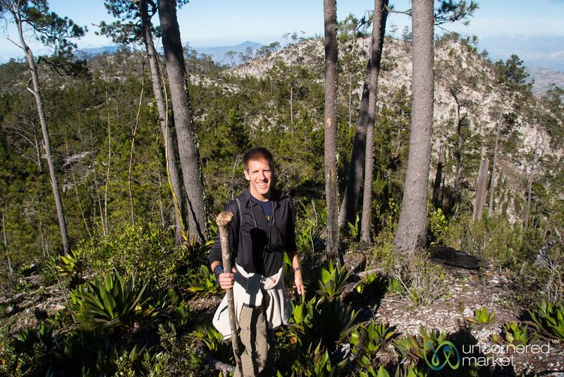Dan on his way to Pic la Selle - Haiti