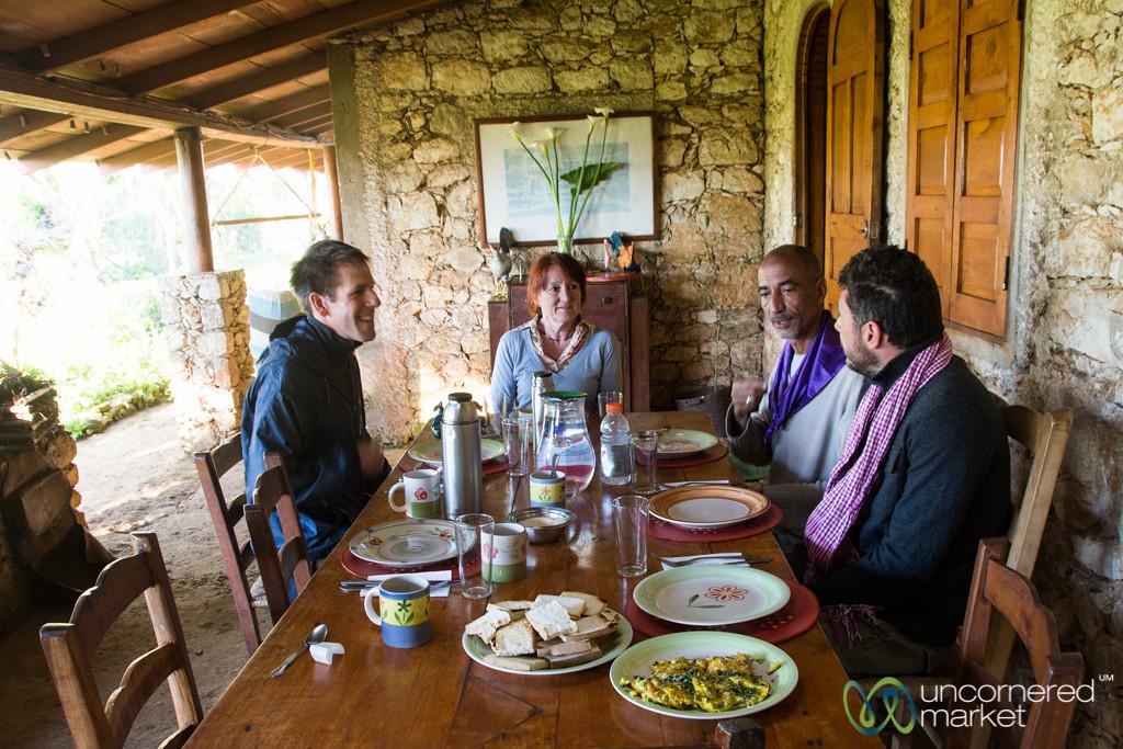 Breakfast at Auberge la Visite - Seguin, Haiti
