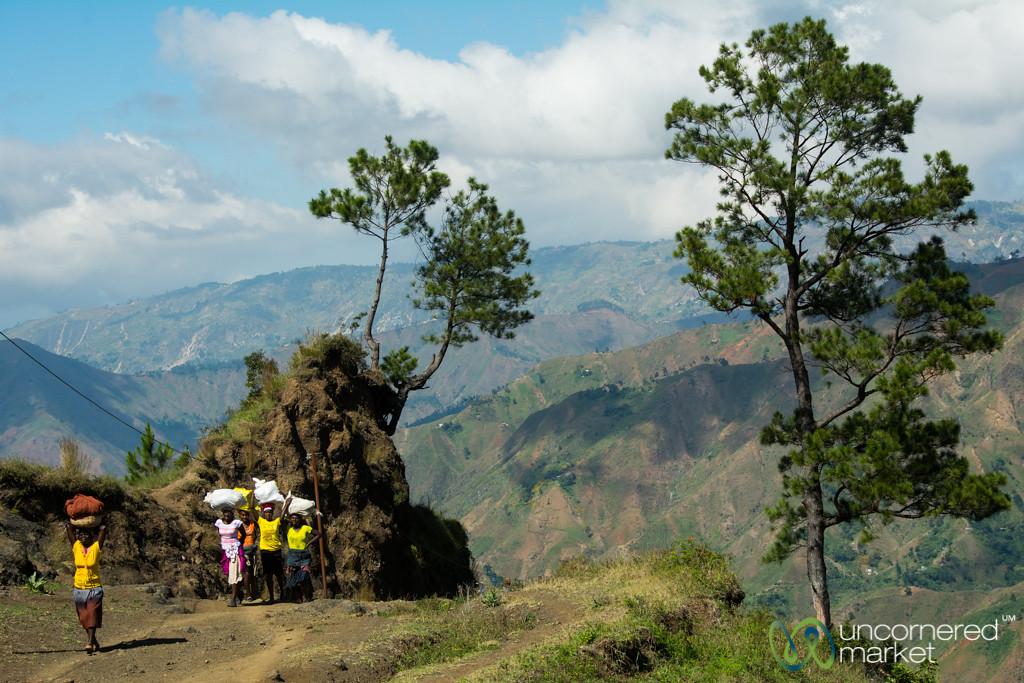 Women Balance Goods on Head - Haiti