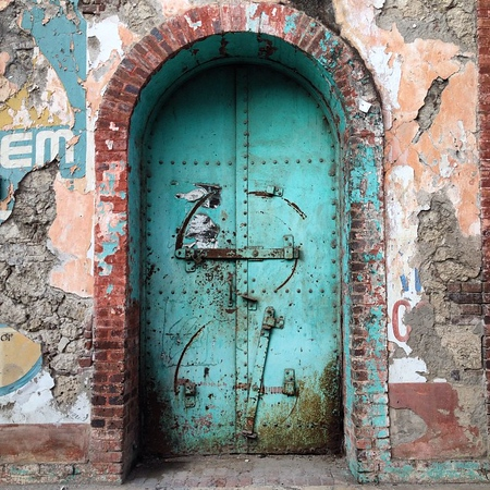Doorway in Jacmel, Haiti