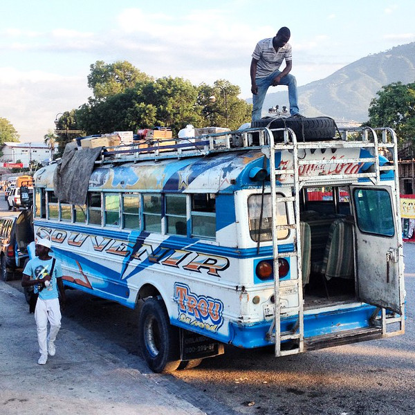 "All aboard! Our Haiti adventure begins in Port-au-Prince. Some might say ""chicken bus"", Haiti says ""tap tap"". via Instagram http://ift.tt/1sOelvo"