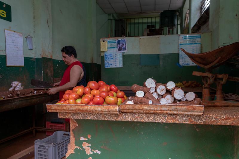 Produce market.