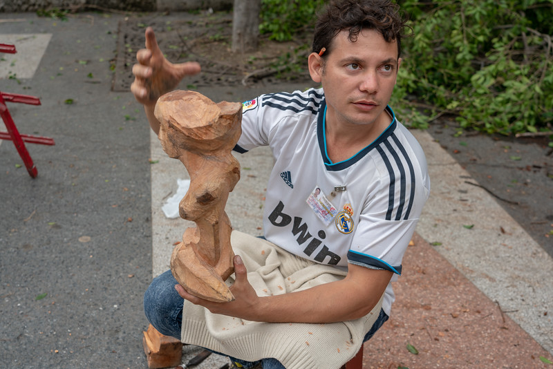 This guy is a talented sculptor.