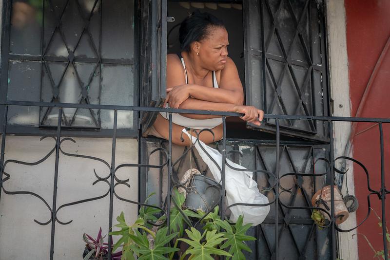 Woman in a window.