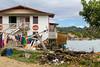 Homes in French Harbor fishing village on Roatan island, Honduras.