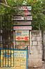 Direction sign advertising at Coxen Hole, Roatan, Honduras, Central America.
